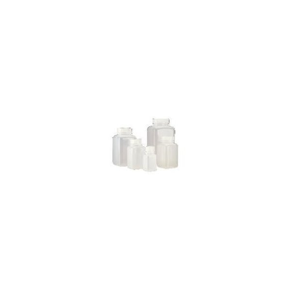 Wide-Mouth 60mL HDPE Nalgene 2114-0002 Square Bottle Pack of 12